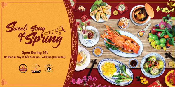 Sweet Song of Spring menu